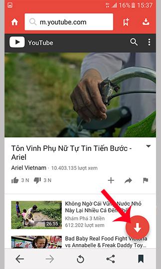 Cách tải video Youtube trên điện thoại Samsung J7 Prime