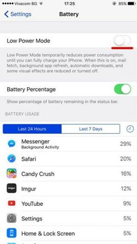 Cách tăng thời lượng dùng pin cho iPhone 7/7 Plus