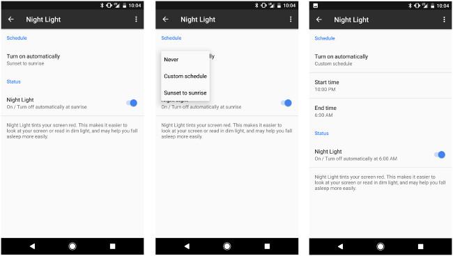 Cách sử dụng tính năng Night Light trên Google Pixel