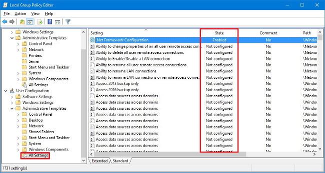 Cách reset thiết lập Local Group Policy trên Windows 10