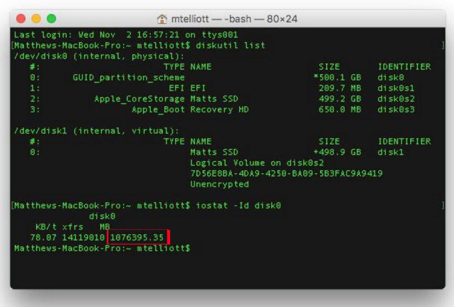 Kiểm tra tuổi thọ của ổ cứng SSD trên Mac OS