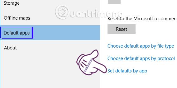Cách sửa lỗi không đặt được ứng dụng mặc định Windows 10