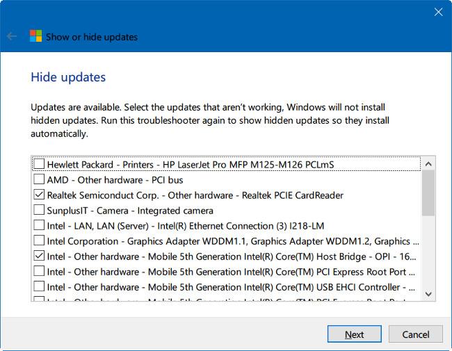 Cách ẩn Windows Update trên Windows 10
