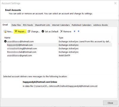 Email trên Outlook không đồng bộ trên Windows 10, đây là cách sửa lỗi
