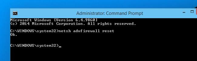 Hướng dẫn reset Windows Firewall Rules về trạng thái mặc định ban đầu