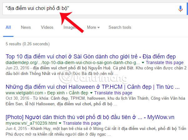 Thủ thuật tìm kiếm Google
