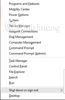 Hướng dẫn tối ưu hóa Power user menu Windows 10