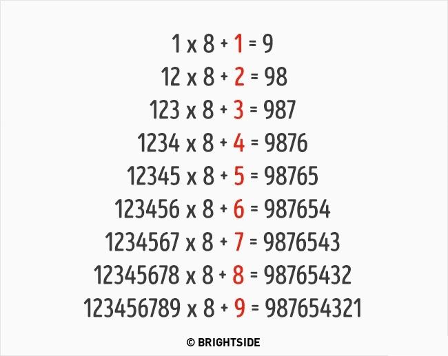 Tam giác đặc biệt của số 8