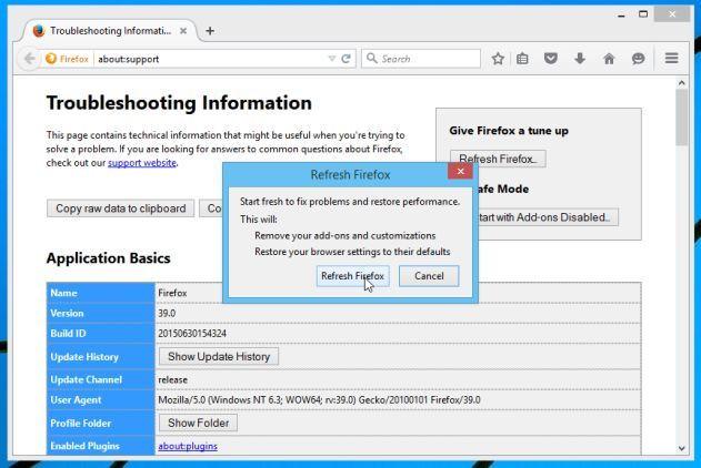 Tiếp tục click chọn nút Refresh Firefox trên cửa sổ xác nhận