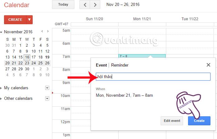 Hướng dẫn quản lý công việc bằng Google Calendar trong Gmail