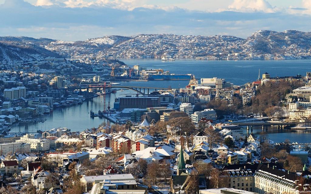 Thành phố ở Na-uy đông đúc và tràn đầy sức sống