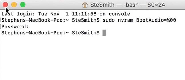 Hướng dẫn khôi phục âm thanh khởi động trên MacBook Pro 2016