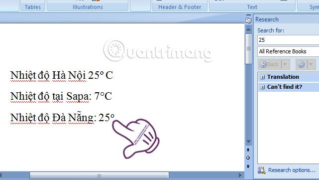 Chèn biểu tượng độ C trong Word, Excel như thế nào?