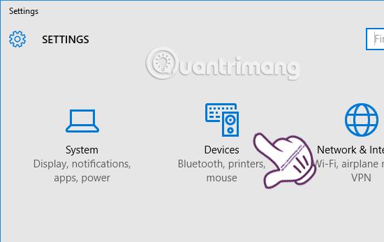 Hướng dẫn thay đổi hướng cuộn trang của Touchpad Windows 10