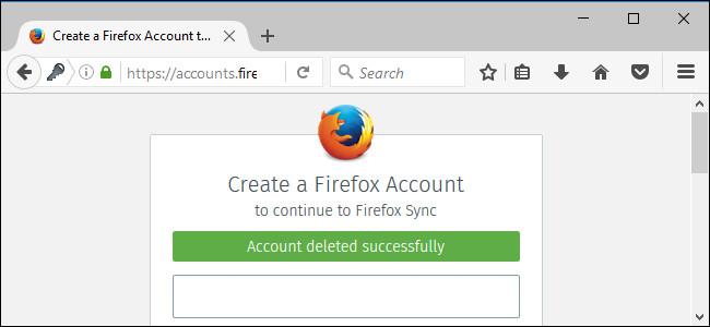 Cách xóa tài khoản Firefox