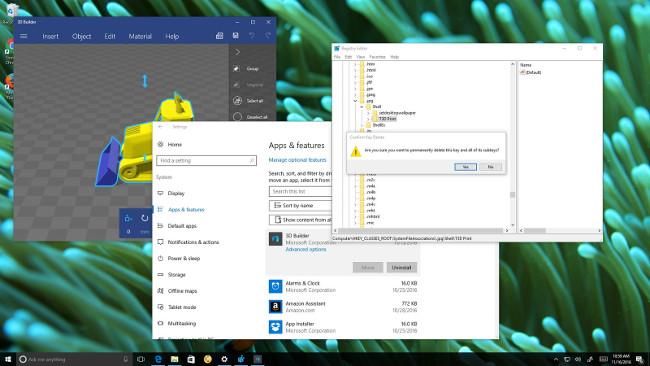 Hướng dẫn gỡ bỏ hoàn toàn ứng dụng 3D Builder trên Windows 10