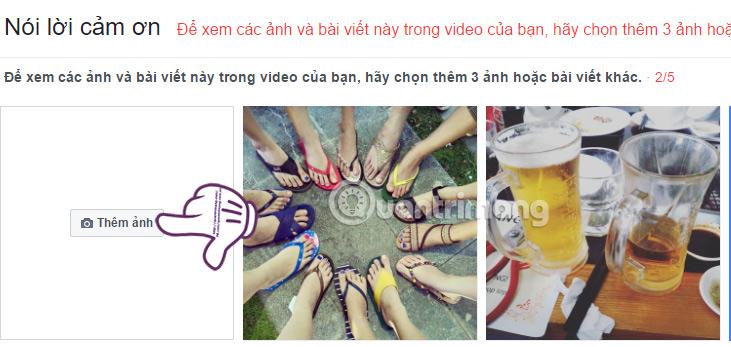 Hướng dẫn làm video Facebook cảm ơn bạn bè, người thân