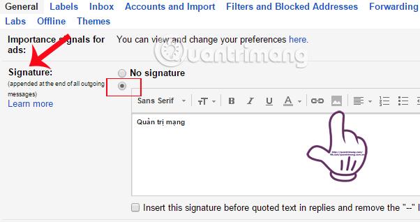 Hướng dẫn tạo chữ ký Gmail bằng hình ảnh