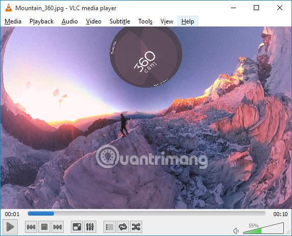 Hướng dẫn xem video và hình ảnh 360 độ trên VLC Player