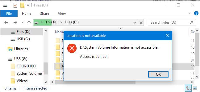 """Thư mục """"System Volume Information"""" là gì, và có thể xóa được thư mục này không?"""