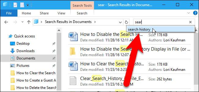 Vô hiệu hóa Search History trên Windows File Explorer