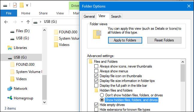 Thư mục FOUND.000 và file FILE0000.CHK trên Windows là gì?