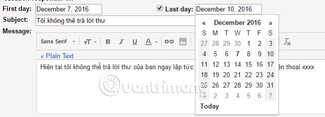 Hướng dẫn sử dụng tính năng trả lời tự động trên Gmail