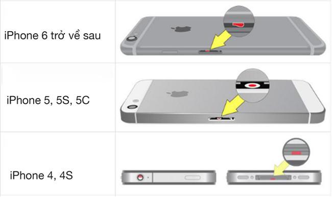 Cách để nhận biết iphone đã bị rơi vào nước hay chưa