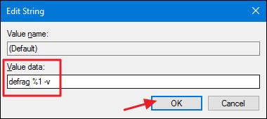 Thêm tùy chọn Defragment vào menu khi kích chuột phải vào ổ trên Windows