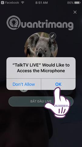 Hướng dẫn phát Live stream TalkTV Live trên điện thoại