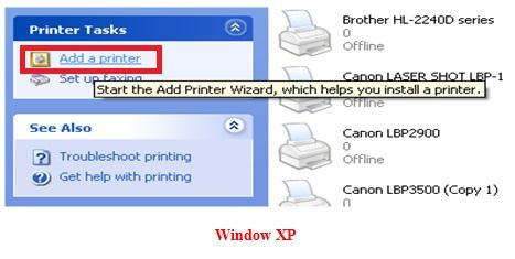 Hướng dẫn cài đặt máy in Canon LBP 1210 trên máy tính