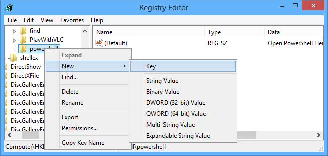 Cách thêm tùy chọn Open Powershell Here vào menu ngữ cảnh trên Windows