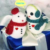 Hướng dẫn làm người tuyết bằng len đáng yêu tặng chàng dịp Noel