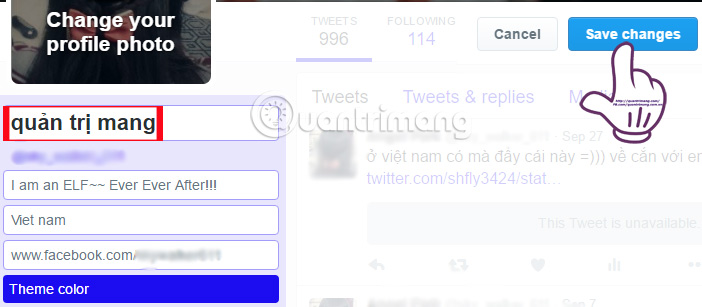 Hướng dẫn đổi tên đăng nhập và tên hiển thị trên Twitter
