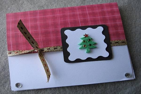 Cách làm thiệp Giáng sinh hình cây thông