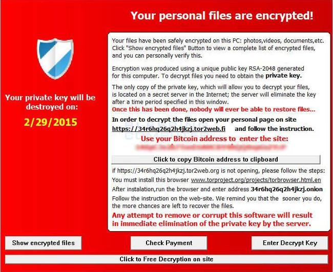 Dưới đây là 3 loại virus Ransomware siêu nguy hiểm và đáng sợ nhất