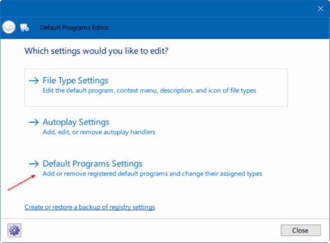 Sửa nhanh lỗi không thể thay đổi ứng dụng hoặc trình duyệt mặc định trên Windows 10