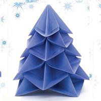 6 cách gấp cây thông Noel giấy theo phong cách origami để trang trí và làm quà tặng