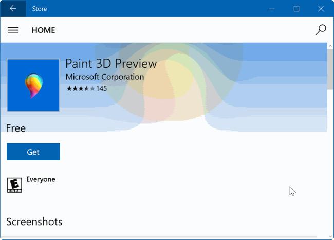 Gỡ bỏ cài đặt hoặc cài đặt lại ứng dụng Paint 3D trên Windows 10