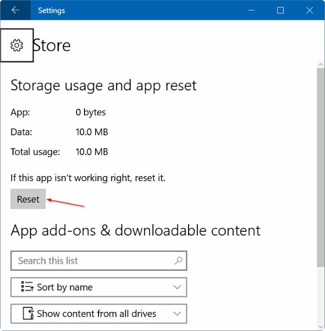 Hướng dẫn reset lại ứng dụng Windows Store trên Windows 10