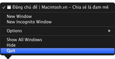 Làm sao để tắt ứng dụng bị treo trên Mac OS?