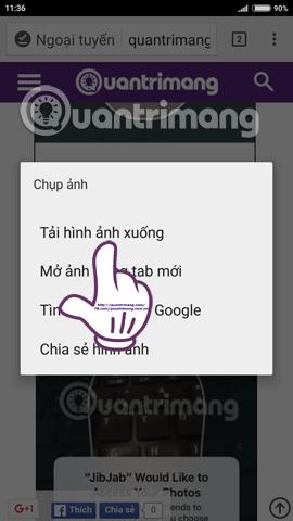 Bạn đừng bỏ qua tính năng tải video Facebook, trang web trên Chrome Android