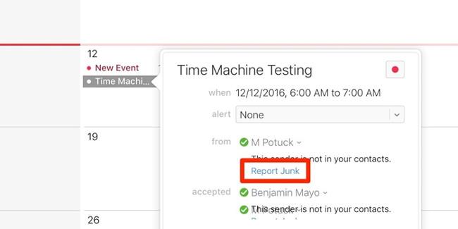 Apple tung giải pháp khắc phục tình trạng spam trong iCloud Calendar