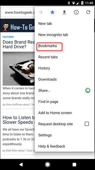 Làm thế nào để đồng bộ bookmark trình duyệt Chrome trên máy tính với điện thoại di động?