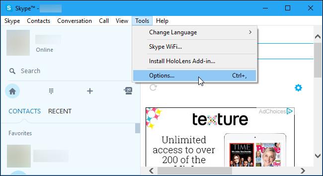 Làm thế nào để ngăn ứng dụng Skype chạy trên nền Background Windows 10?
