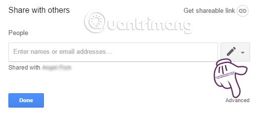 Đổi quyền sở hữu thư mục trong Google Drive