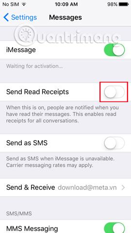 Cách tăng tính bảo mật cho tin nhắn iMessage iPhone/iPad