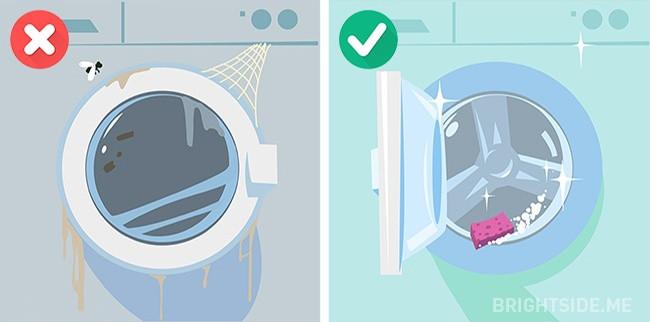 Không vệ sinh máy giặt