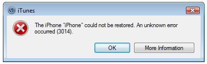 Sửa lỗi 3014 trong quá trình restore iPhone