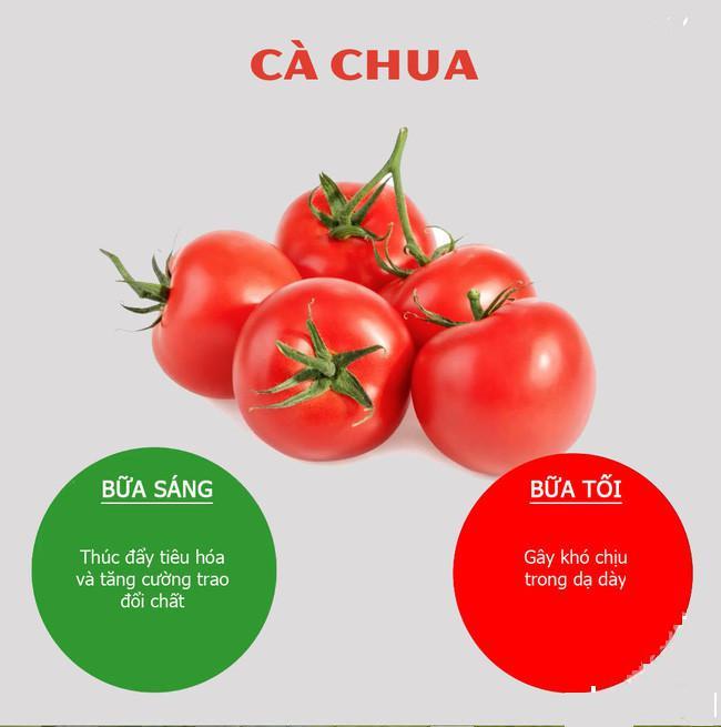 Thời điểm nên và không nên ăn cà chua